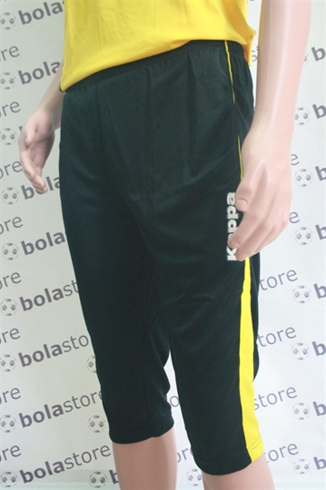 Picture of 3/4 Tight Pants Black (Yellow Stripes) Kappa